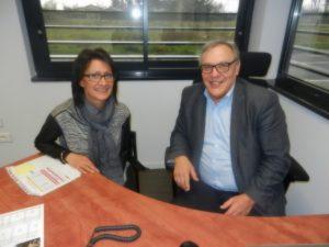 Mme Figueroa Vice presidente chargé de l'emploi et Mr Baurens president de la CCVA et president de la comission developpement economique